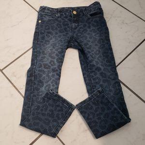 Gymboree leopard skinny jeans. Girls size 7